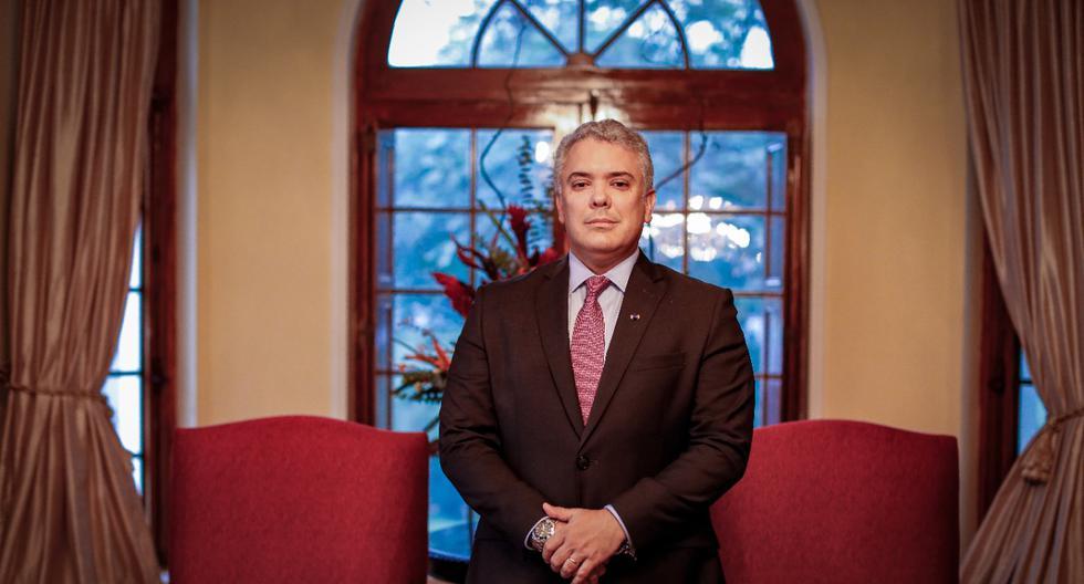 El presidente Iván Duque recibió a El Comercio en San Isidro, en la residencia de la embajadora de Colombia en el Perú.  FOTO: HUGO PÉREZ