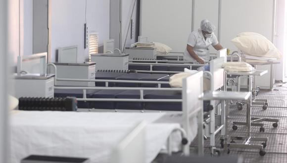 Pasco: instalarán 50 camas en hospital temporal para pacientes con COVID-19 (Foto referencial).