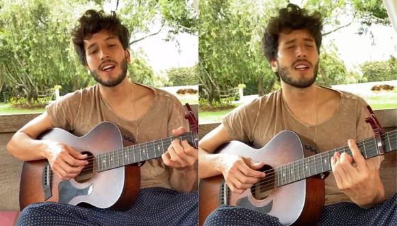"""Sebastián Yatra cantó """"La gloria de Dios"""", tema de Ricardo Montaner y Evaluna. (Foto: @sebastianyatra)"""