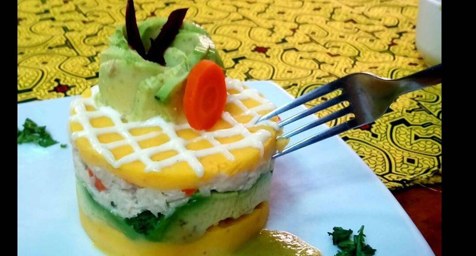 El Pichito. La versión de este local de comida amazónica es muy novedosa, pues se trata de una causa rellena de paiche fresco y mayonesa de cocona. (Foto: El Pichito)