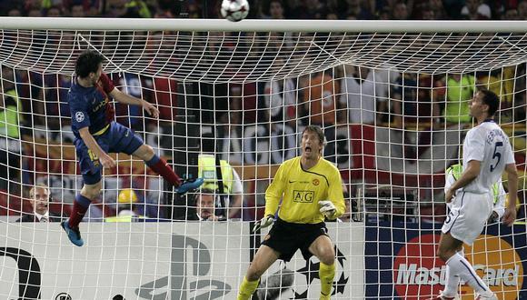 Rio Ferdinand y Lionel Messi en la final de la Champions League 2010/11. (Foto: AP)