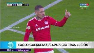 Paolo Guerrero reaparece de titular con el Inter de Brasil