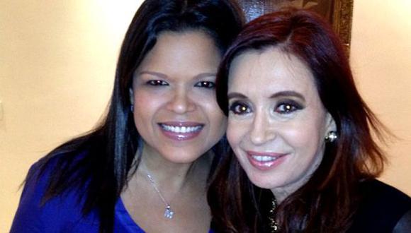 María Gabriela Chávez y Cristina Fernández. (Foto: Facebook).