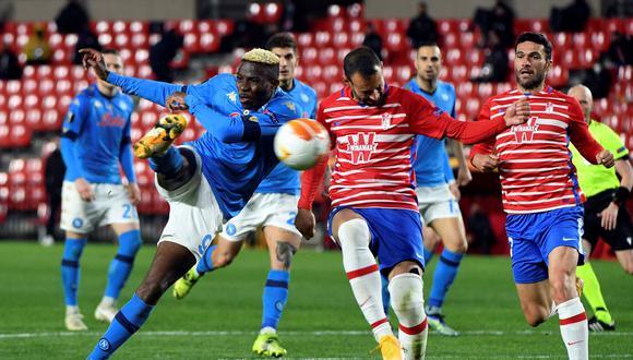Granada venció 2-0 al Nápoli, sin Hirving Lozano, por la Europa League