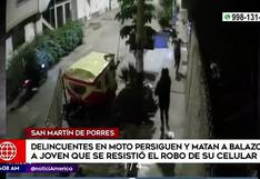 SMP: malhechores matan a balazos a joven para robarle el celular