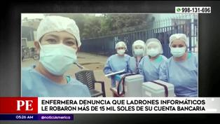 Delincuentes cibernéticos robaron 15 mil soles a una enfermera