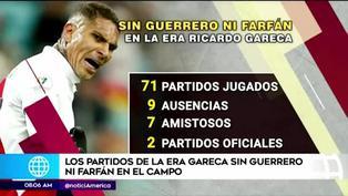 Los partidos de la era Gareca sin Paolo Guerrero ni Jefferson Farfán