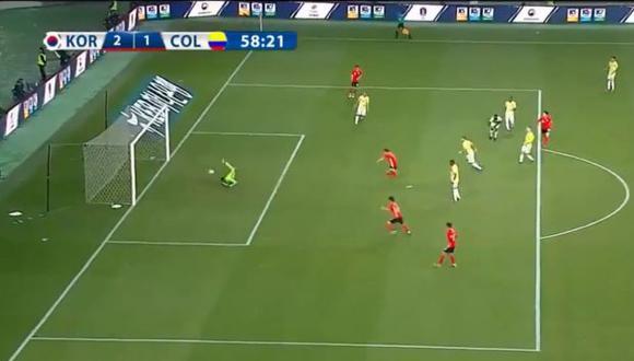 Colombia vs. Corea del Sur. (Foto: captura de pantalla)