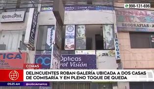 Comas: delincuentes roban en galería ubicada a unos metros de la comisaría