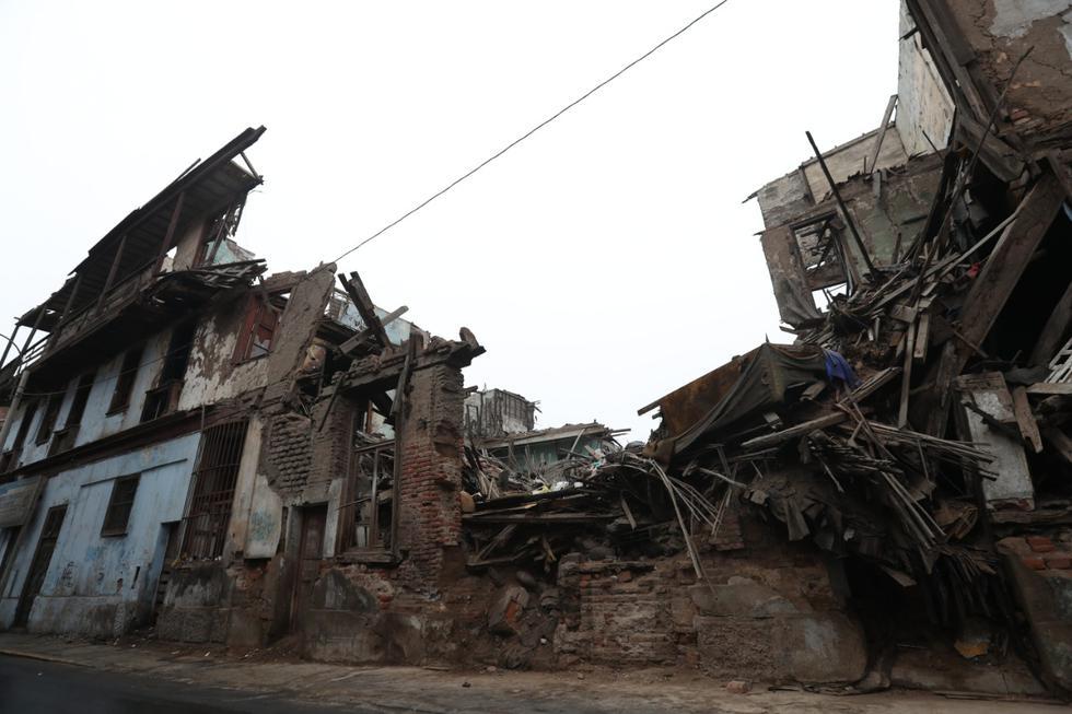 Casona El Buque, en jirón Cangallo, Barrios Altos, en ruinas (Foto: Rolly Reyna).