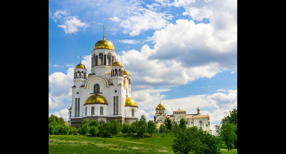 La Catedral de la Sangre Derramada en Ekaterimburgo terminó de construirse en el 2003. Foto: Shutterstock