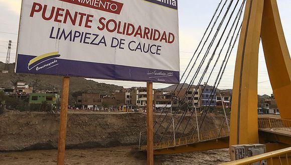 Comisión tiene un plazo de 60 días para evaluar el estado de los puentes dañados por los ríos. (Foto: El Comercio)