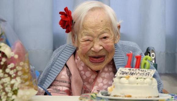 Misao Okawa es considerada la persona más antigua del mundo con 116 años. (AP)