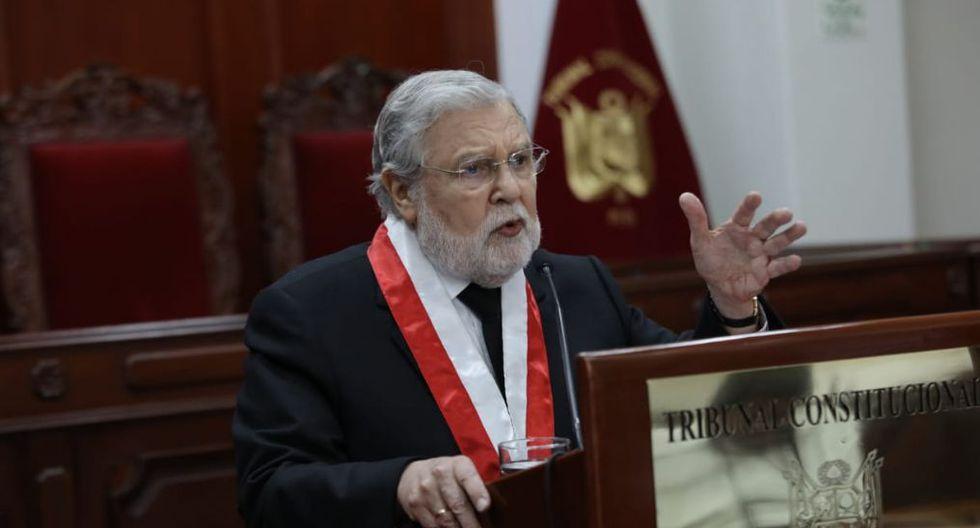 El presidente del TC, Ernesto Blume, reiteró su llamado para que haya un diálogo entre autoridades. (Foto: Antonhy Niño de Guzmán/ GEC)