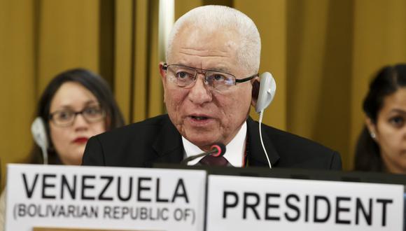 Jorge Valero, representante de Venezuela ante la Conferencia de Desarme de la ONU. (AP).