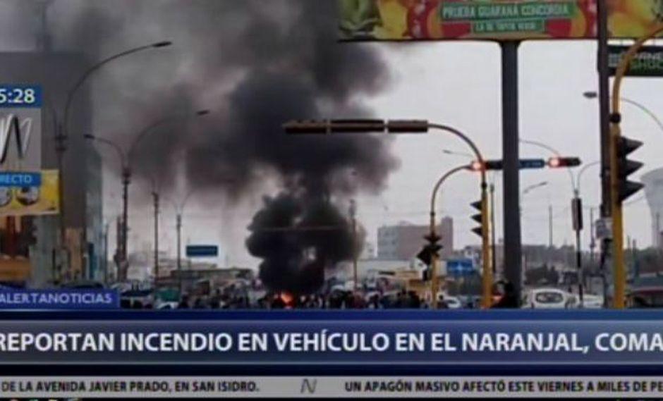 Hasta el momento se desconoce el motivo del incidente. (Foto: Captura Canal N)