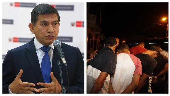 Ministro del Interior señaló que uno de los 124 intervenidos en un hotel ubicado en Punta Negra estaría involucrado en el asesinato de Isaac Hilario Huamanyalli.(Foto: Andina/GEC)