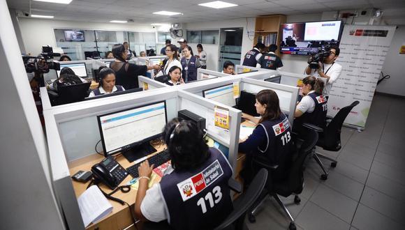 La Línea 113 de Ministerio de Salud atiende 6 mil llamadas al día, de las cuales 3 mil son relacionadas al coronavirus (GEC)