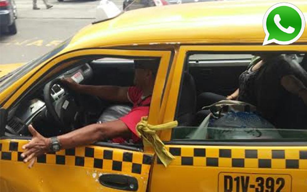 Vía WhatsApp: este conductor amarra la puerta con una soga  - 1