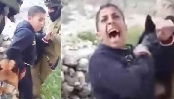 Soldados israelíes usan perros para reducir a palestino [VIDEO]