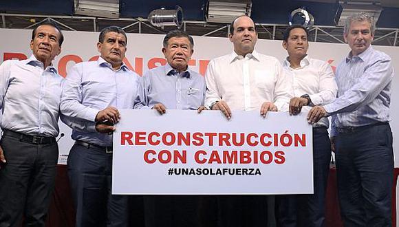 Gobernadores respaldan proyecto sobre reconstrucción