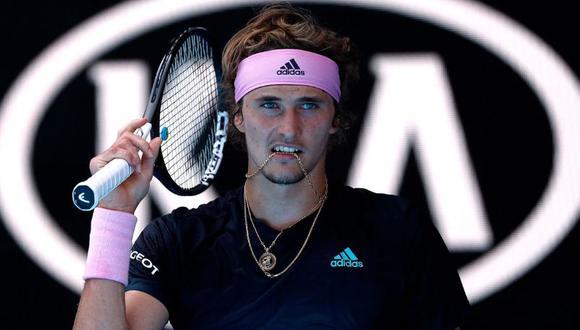 Alexander Zverev, el desconcertante revés amoroso del joven alemán que perjudica su tenis. (Foto: AFP)