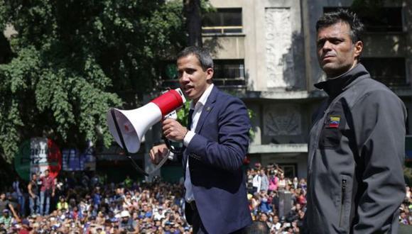 Guaidó y Leopoldo López sorprendieron a los venezolanos con su llamado a movilización del martes. Foto: Getty images, vía BBC Mundo