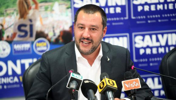 El ministro de Interior italiano, Matteo Salvini, informó que barco con 50 migrantes no esntrará a Italia. (Foto: EFE)
