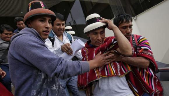 El dirigente y el presidente de la conferencia Episcopal Peruana, Miguel Cabrejos, anunciaron que el diálogo con el Ejecutivo se iniciará hoy a las 6:00 p.m. en la sede de la organización religiosa (Foto: Anthony Niño de Guzmán)