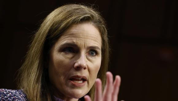 La jueza Amy Coney Barrett comparece por tercera vez ante el Comité Judicial del Senado de Estados Unidos. (Foto: Samuel Corum / POOL / AFP).