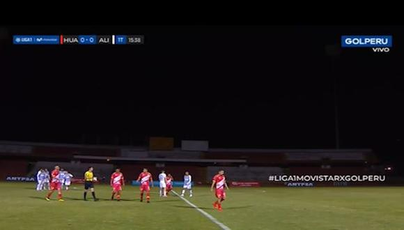 Alianza Lima vs. Sport Huancayo: duelo se paralizó por apagón durante el primer tiempo | VIDEO. (Video: Gol Perú / Foto: Captura de pantalla)