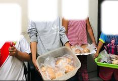 La Libertad: rescatan a cuatro menores que eran obligados a vender panes y kekes en la calle
