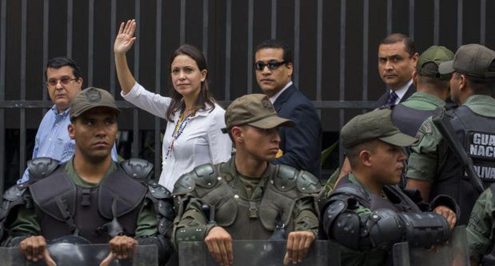 """Maria Corina Machado: """"No pueden culparme de ningún delito"""""""