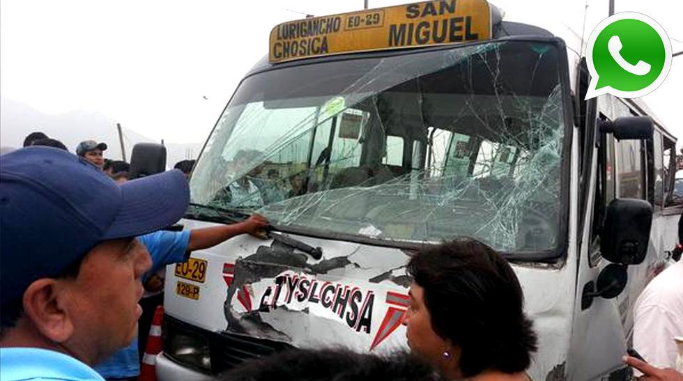 Exceso de velocidad habría sido la causa de este terrible choque que deja al menos un muerto confirmado (Foto:WhatsApp/El Comercio)
