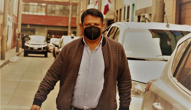 Richard Rojas, dirigente de Perú Libre, es una persona cercana no solo a Vladimir Cerrón, sino a Pedro Castillo. (Foto: Alessandro Currarino @photo.gec)