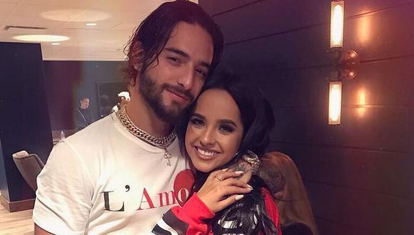 Maluma y Becky G estarían trabajando en una nueva colaboración musical. (Foto: Instagram)