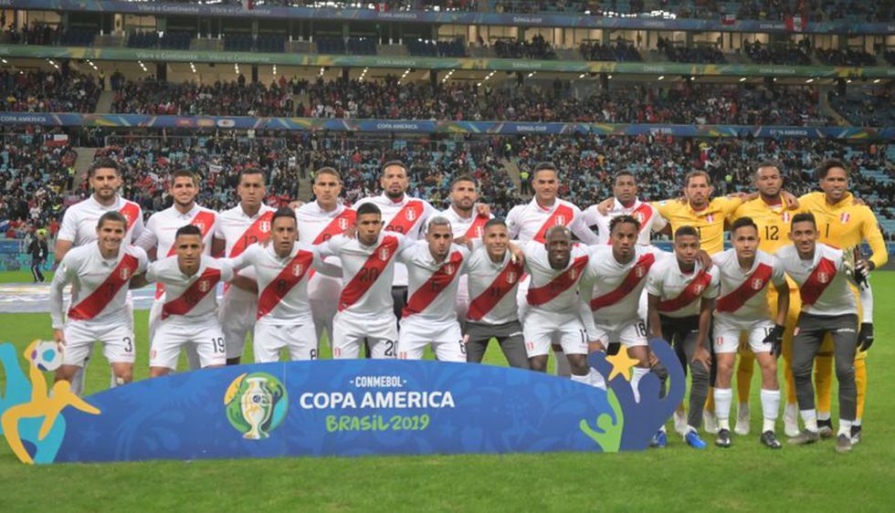 Perú vs. Brasil: la histórica plantilla blanquirroja que llegó a la final de la Copa América 2019.(Foto: AFP)