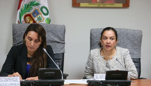 Marisol Espinoza exhortó a la Comisión de Constitución usar el material que previamente trabajó el subgrupo de reforma electoral. (Foto: Miguel Bellido / El Comercio)