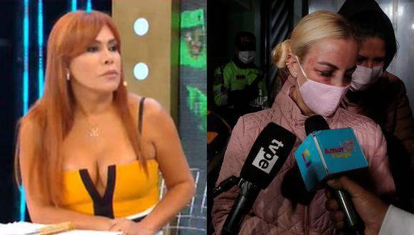 Magaly Medina realizó una larga entrevista a Dalia Durán, luego que la cubana fuera agredida por John Kelvin. (Fotos: ATV/ César Grados)