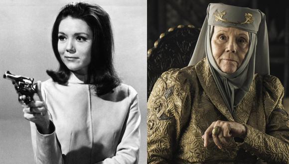 """Además de ser Olenna Tyrell en """"Game of Thrones"""", Diana Rigg participó en la recordada serie de espías """"The Avengers"""". Fotos: ITV/ HBO."""