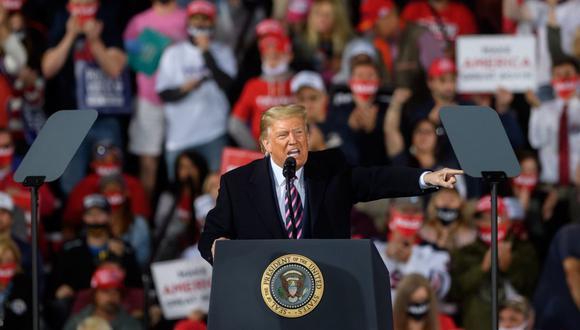 El presidente Donald Trump se jactó de haber actuado de manera adecuada para detener el coronavirus. (AFP/Jeff Swensen).