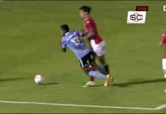 Sporting Cristal vs. Rentistas: 'Canchita' Gonzales sufrió falta en área rival, pero el árbitro no cobró penal | VIDEO