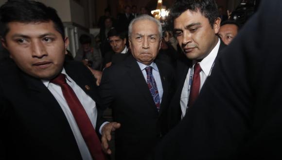 Ex fiscal de la Nación Pedro Chávarry afronta pedido de destitución e inhabilitación. El pleno tendrá la última palabra (Foto: Renzo Salazar)