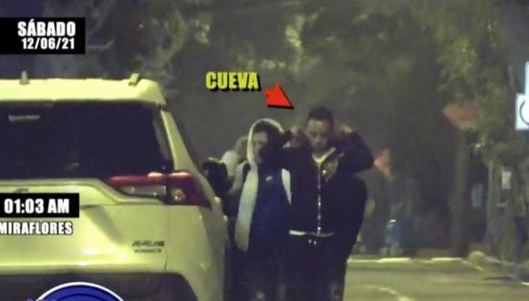 Christian Cueva fue ampayado el pasado fin de semana tomando con amigos y amigas. (Foto: Captura ATV).