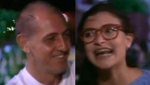 Franco de Vita junto a Beatriz Pinzón en uno de los episodios cuando ella decide cambiarse de look (Foto: RCN)
