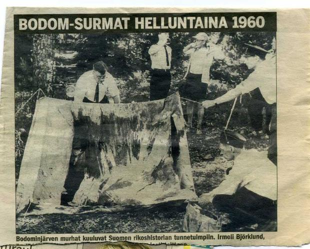 A newspaper clipping from the time shows investigators conducting profiling in one of the tents attacked by the murderer.  (Photo: imgur.com/gallery/ToNes)