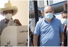 Pedro Castillo mostró su voto y Rafael López Aliaga llegó con logo partidario: ¿Infringieron la ley electoral?