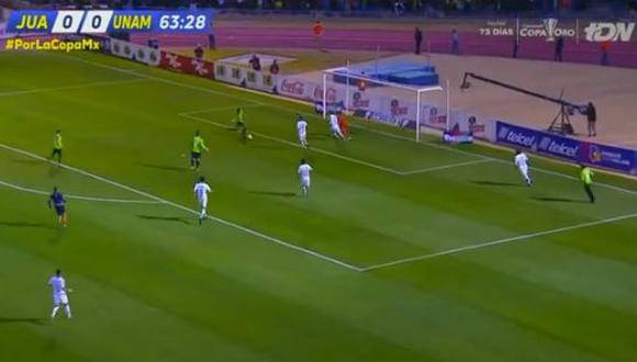 Omar Panuco aprovechó una asistencia de Mauro Fernández para anotar el primero del partido que los clasifica a la gran final ante América. (Foto: captura de video)