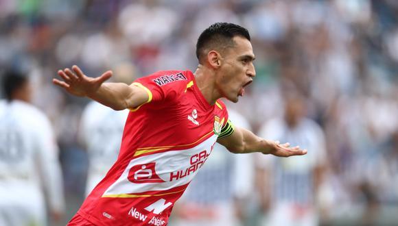 Manuel Corrales anotó el 1-1 de Sport Huancayo en el campo de Alianza Lima. (Foto: Giancarlo Ávila / GEC)