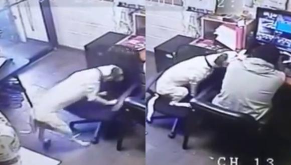 Un video viral muestra lo empático que se mostró un perro al ver a su dueño trabajando solo. | Crédito: RM Videos / YouTube